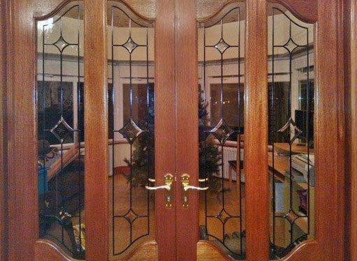 Leaded glass - inside door